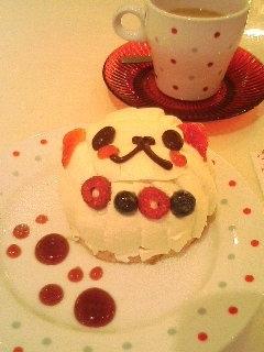 chocoholic cafe_苺のプードル
