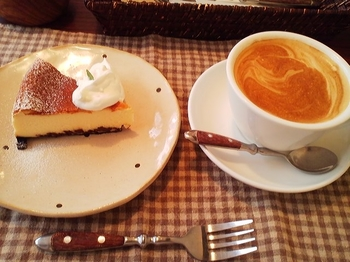 cafe one_チーズケーキ