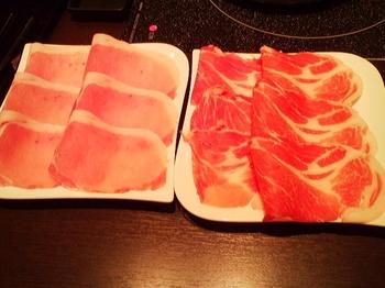 東風吹かば_燦然豚 ロース肉と肩ロース肉
