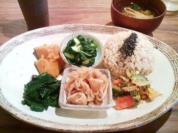 カフェ ソワ_玄米定食