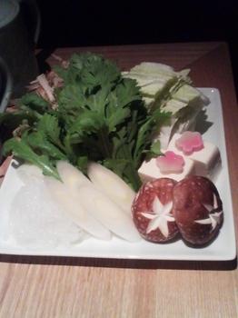 いなにわ_すきやき鍋(お野菜の盛り合わせ)