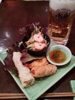 Nha Viet Nam_蓮の茎のサラダ&三種のおかず