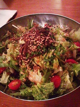 草の花_韓式豆腐サラダ