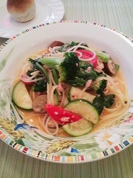 Alice_タコミンチと季節野菜のパスタ
