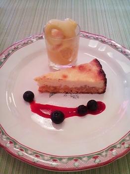 Alice_ベイクドチーズケーキ&マンゴーアイス