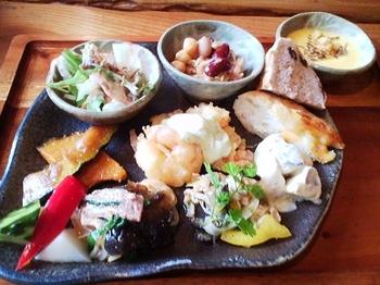 森のレストラン_前菜ビュッフェプレート