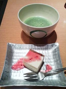 不二乃_豆乳レアチーズ&お抹茶