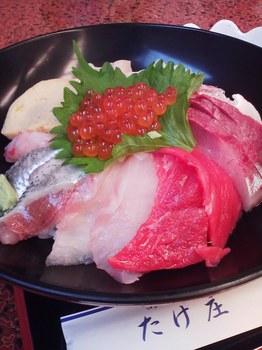 2015.08.10 魚や たけ庄 海鮮丼