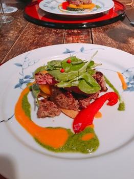 160705_むくの実亭_牛フィレ肉のグリル トマトと大葉のソース.JPG